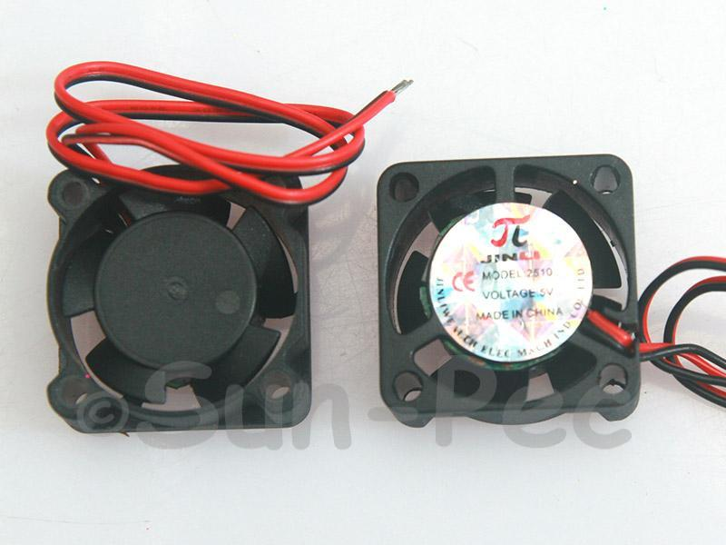 DC Cooling Fan 5V 130mA Ball Bearing 25x25x10mm 2pcs