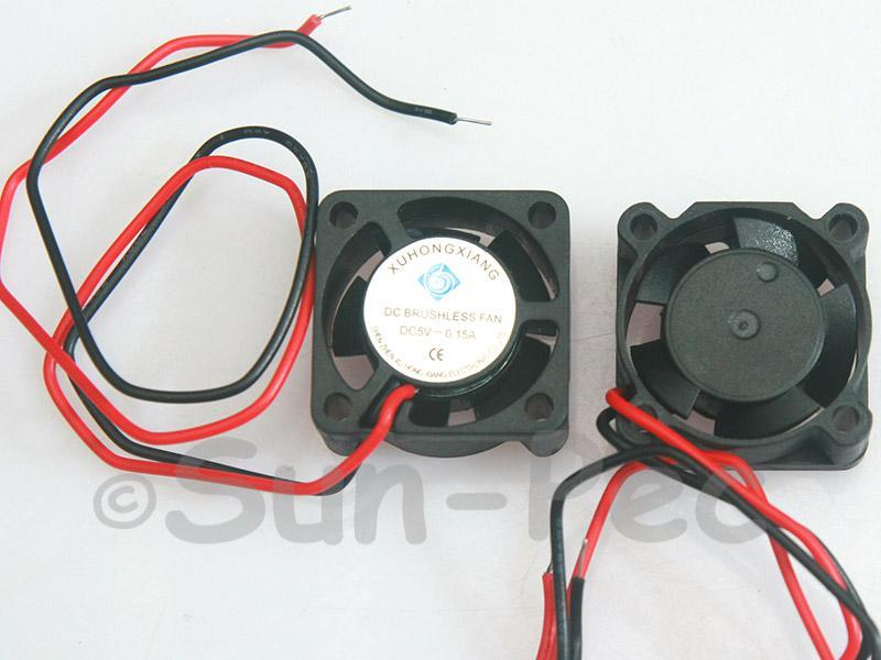 DC Cooling Fan 5V 150mA Sleeve Bearing 25x25x10mm 2pcs - 4pcs