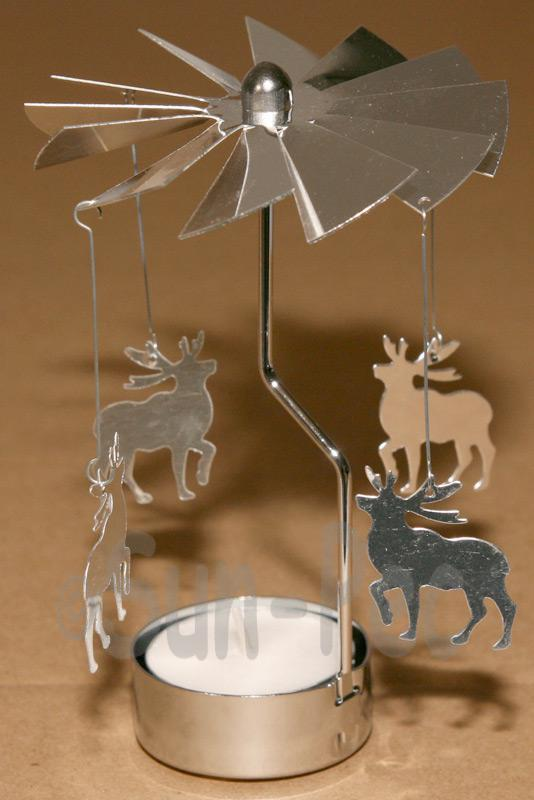 Spining Rotating Candle Tea Light Holder Scandinavian various Ornament options