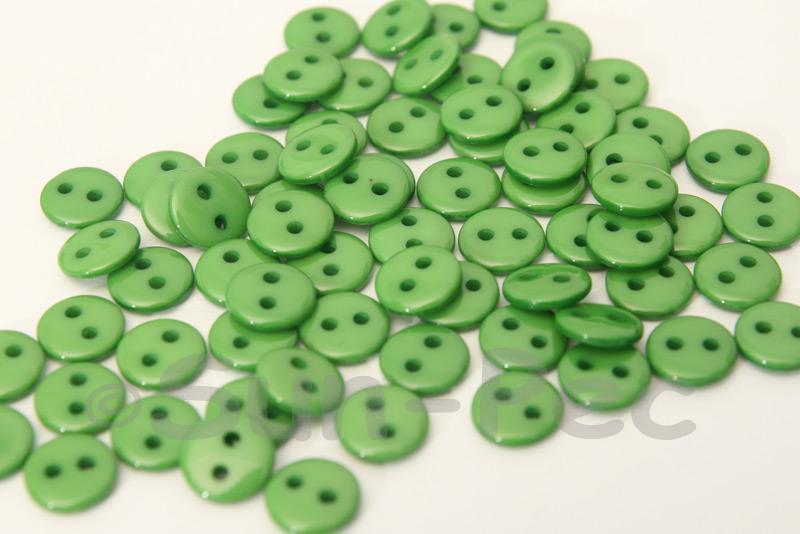 Green #1 9mm Standard Round 2 Eye Hole Buttons 50pcs - 200pcs