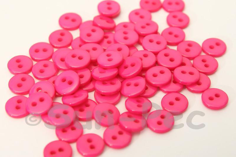 Rose 9mm Standard Round 2 Eye Hole Buttons 50pcs - 200pcs