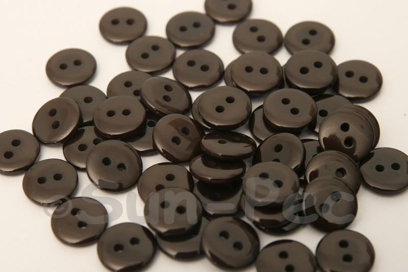 Coffee 10mm Standard Round 2 Eye Hole Buttons 50pcs - 200pcs