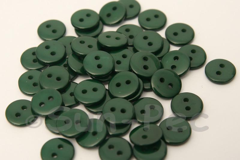 Dark Green 10mm Standard Round 2 Eye Hole Buttons 50pcs - 200pcs