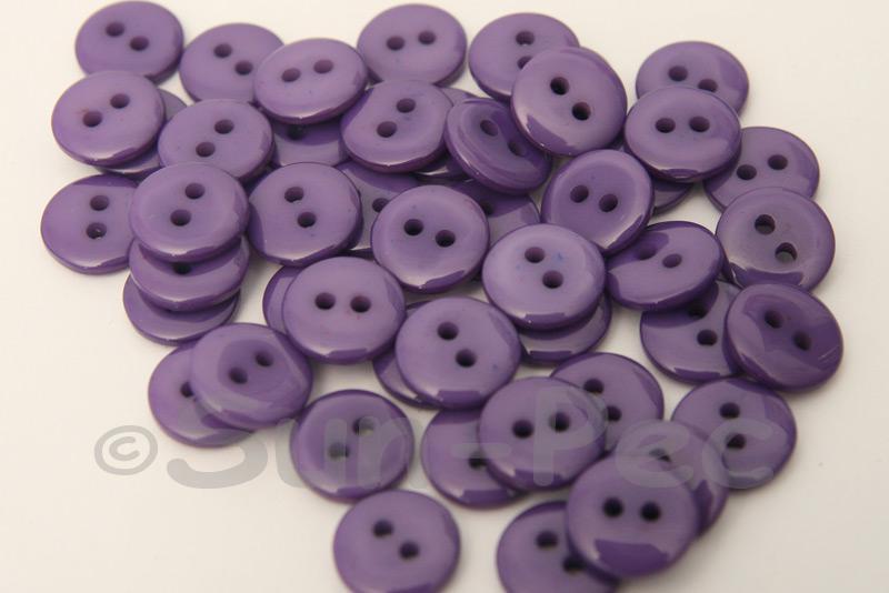 Purple 10mm Standard Round 2 Eye Hole Buttons 50pcs - 200pcs