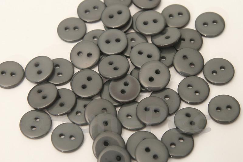 Dark Gray 11.5mm Standard Round 2 Eye Hole Buttons 50pcs - 100pcs