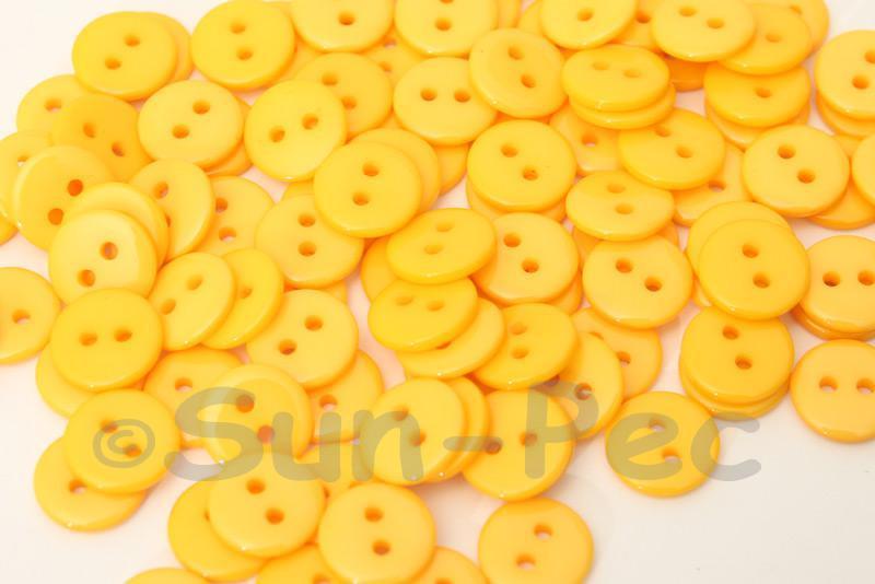 Light Orange 11.5mm Standard Round 2 Eye Hole Buttons 50pcs - 100pcs