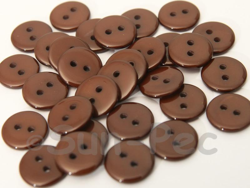 Coffee #1 12.5mm Standard Round 2 Eye Hole Buttons 50pcs - 100pcs