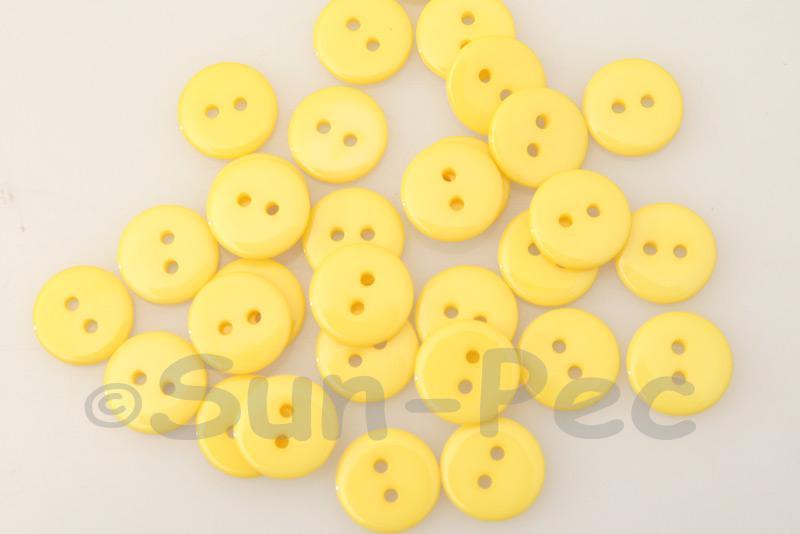 Dark Yellow 12.5mm Standard Round 2 Eye Hole Buttons 50pcs - 100pcs