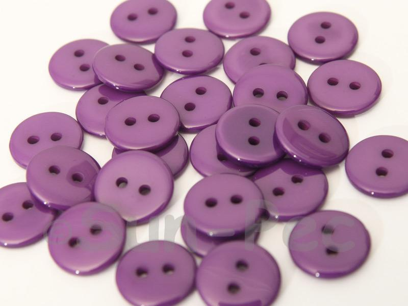 Purple 12.5mm Standard Round 2 Eye Hole Buttons 50pcs - 100pcs