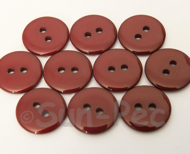 Burgundy 18mm Standard Round 2 Eye Hole Buttons 20pcs - 50pcs