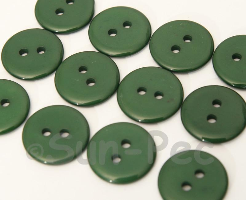 Dark Green 18mm Standard Round 2 Eye Hole Buttons 20pcs - 50pcs