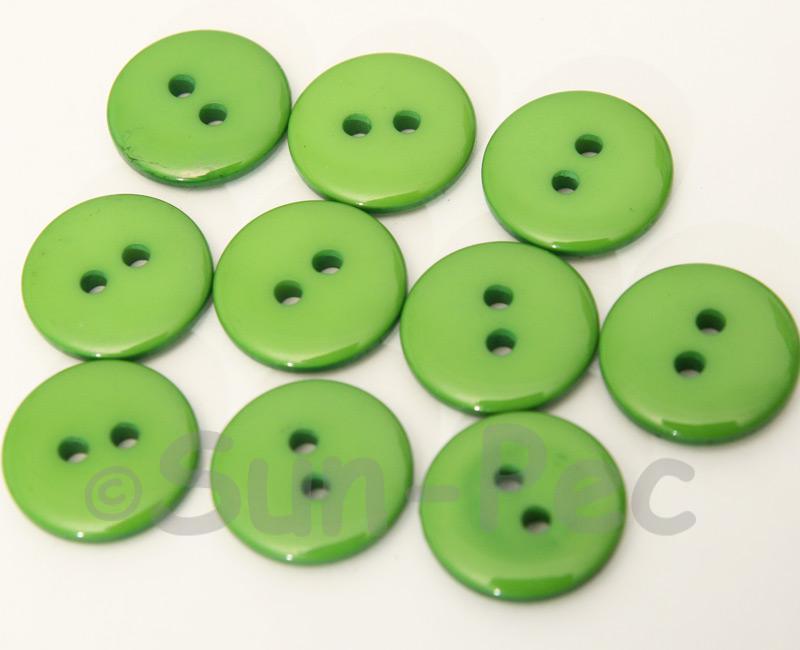 Green 18mm Standard Round 2 Eye Hole Buttons 20pcs - 50pcs