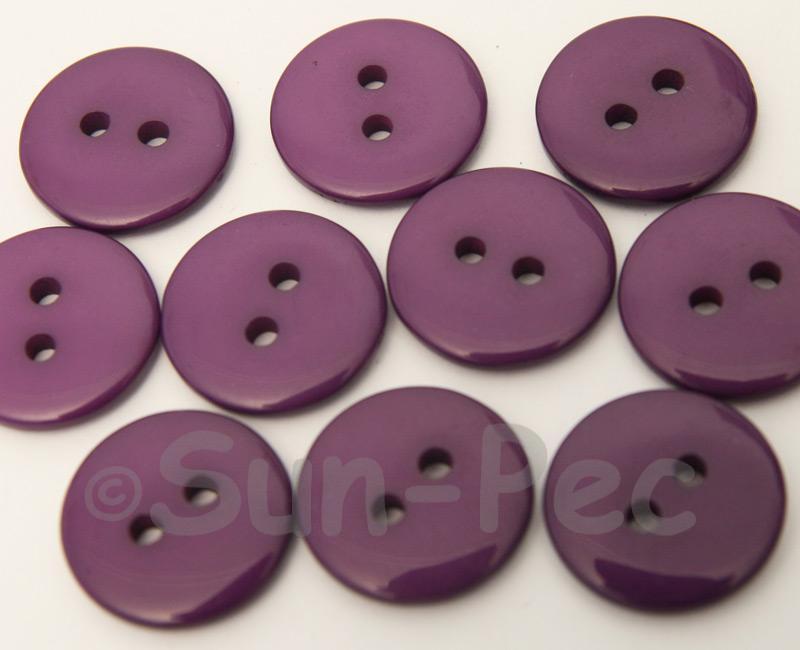 Purple 18mm Standard Round 2 Eye Hole Buttons 20pcs - 50pcs