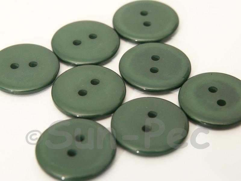Dark Green 20mm Standard Round 2 Eye Hole Buttons 20pcs - 50pcs