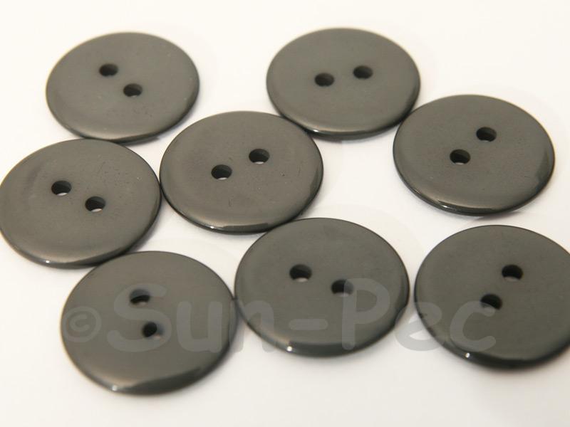 Dark Gray 20mm Standard Round 2 Eye Hole Buttons 20pcs - 50pcs