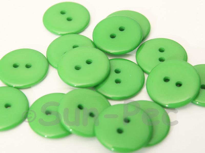 Green #1 20mm Standard Round 2 Eye Hole Buttons 20pcs - 50pcs