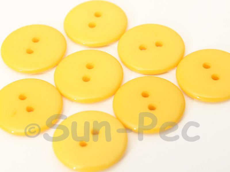 Light Orange 20mm Standard Round 2 Eye Hole Buttons 20pcs - 50pcs