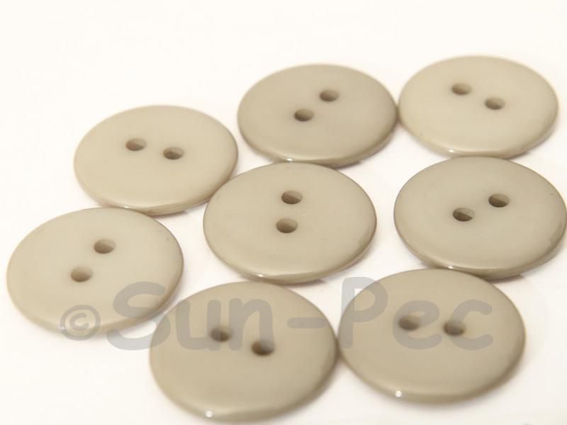 Khaki 20mm Standard Round 2 Eye Hole Buttons 20pcs - 50pcs