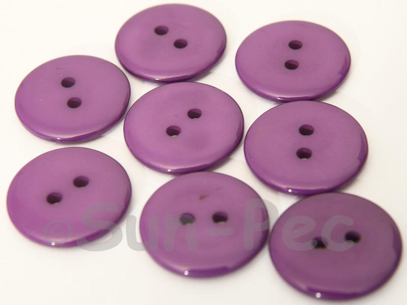 Purple #1 20mm Standard Round 2 Eye Hole Buttons 20pcs - 50pcs
