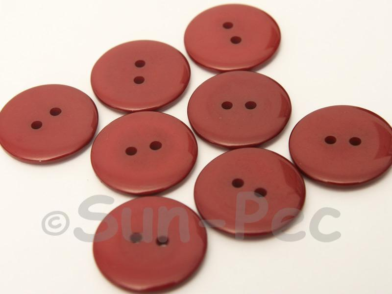 Burgandy #1 23mm Standard Round 2 Eye Hole Buttons 20pcs - 50pcs