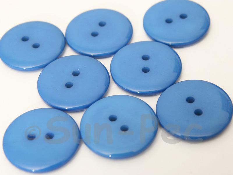 Blue #1 23mm Standard Round 2 Eye Hole Buttons 20pcs - 50pcs