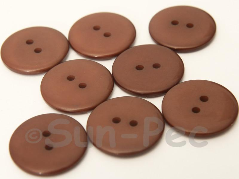 Coffee 23mm Standard Round 2 Eye Hole Buttons 20pcs - 50pcs