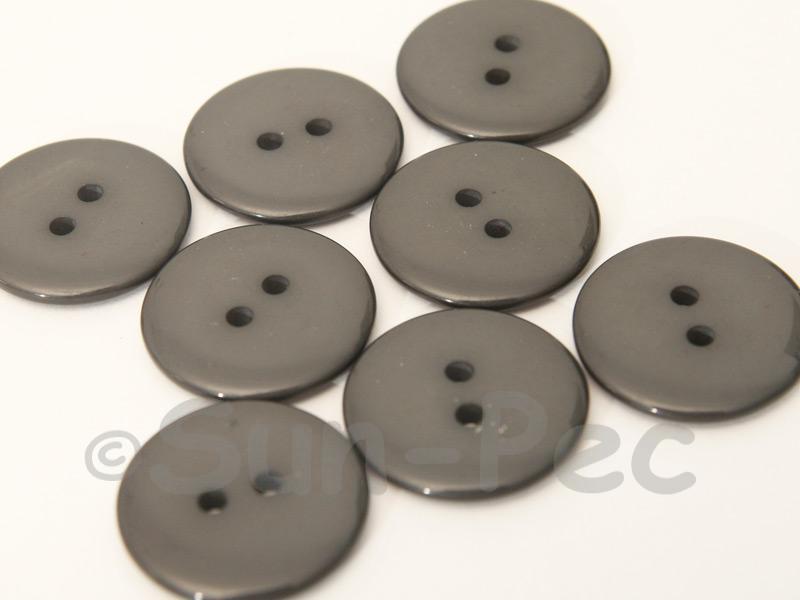 Dark Gray 23mm Standard Round 2 Eye Hole Buttons 20pcs - 50pcs
