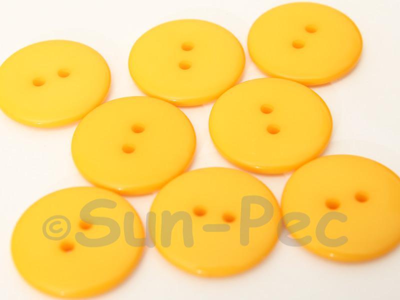 Light Orange #1 23mm Standard Round 2 Eye Hole Buttons 20pcs - 50pcs