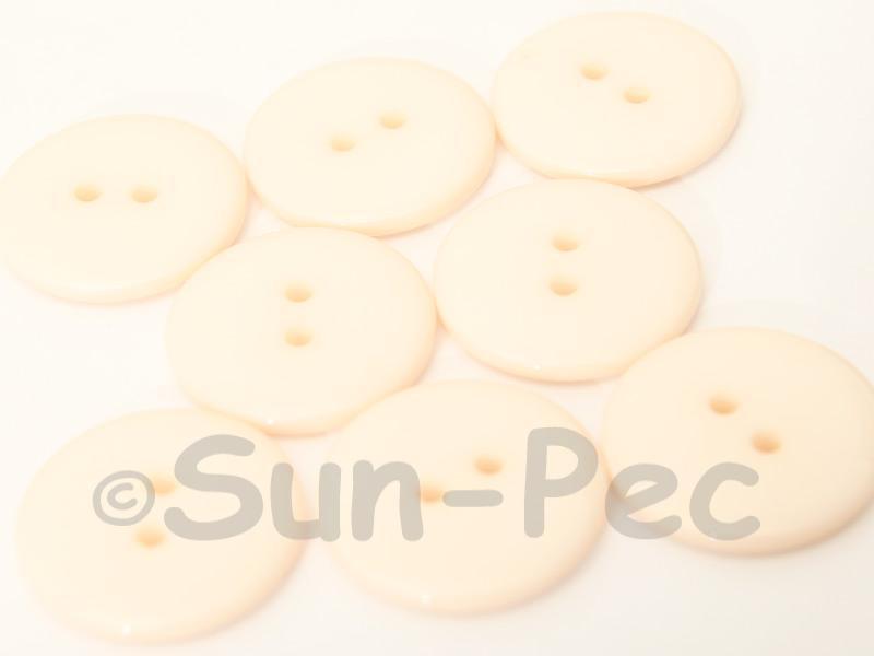 Ivory 23mm Standard Round 2 Eye Hole Buttons 20pcs - 50pcs