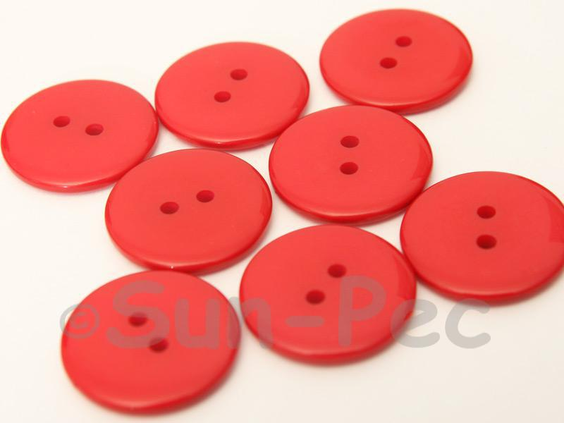 Red #1 23mm Standard Round 2 Eye Hole Buttons 20pcs - 50pcs
