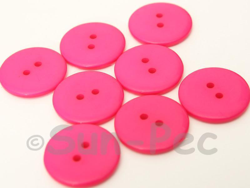 Rose #1 23mm Standard Round 2 Eye Hole Buttons 20pcs - 50pcs