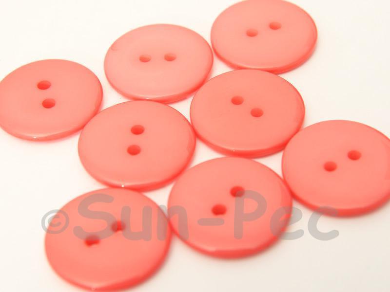 Watermelon 23mm Standard Round 2 Eye Hole Buttons 20pcs - 50pcs