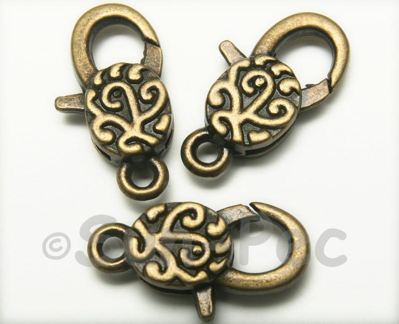 Rustic - C Retro Brass Labster Clasp Jewelery Connector 2pcs - 5pcs