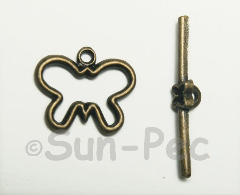 Butterfly - C Retro Brass OT Buckle Clasp Jewelery Connector 2pcs - 5pcs