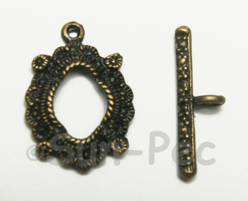 Celtic - H Retro Brass OT Buckle Clasp Jewelery Connector 2pcs - 5pcs
