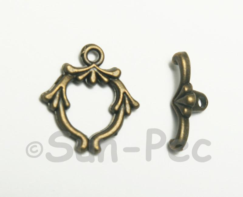 Leaf - I Retro Brass OT Buckle Clasp Jewelery Connector 2pcs - 5pcs