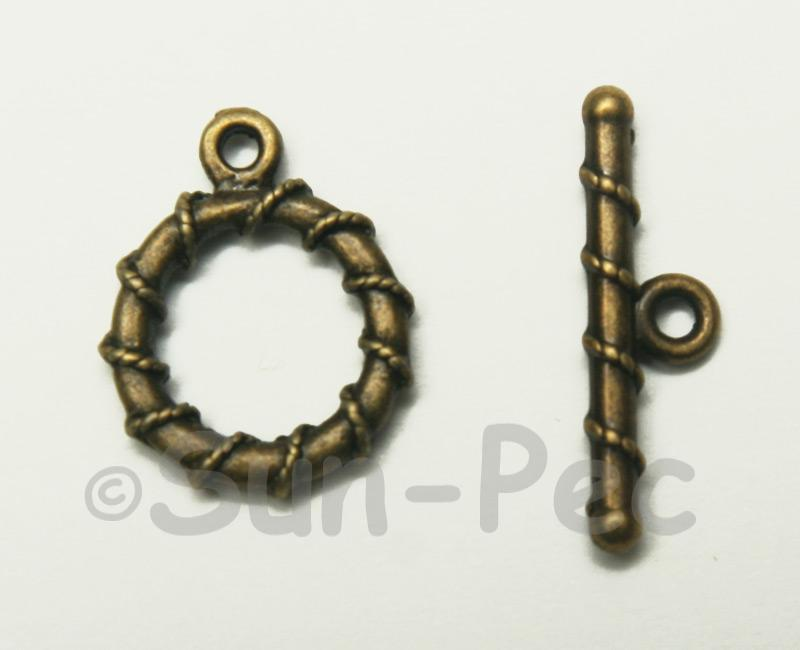 Circle - N Retro Brass OT Buckle Clasp Jewelery Connector 2pcs - 10pcs