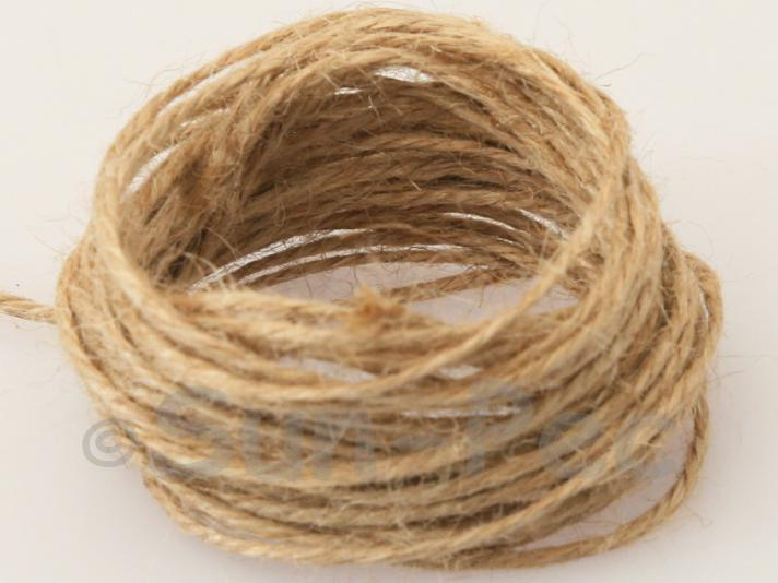 Beige 2mm Coarse Twisted Hemp Jute Cord 5m - 50m
