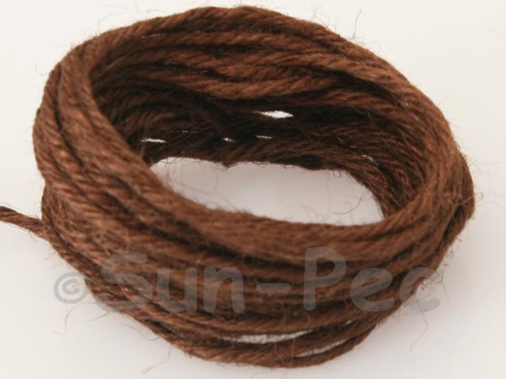 Coffee 2mm Coarse Twisted Hemp Jute Cord 5m - 10m