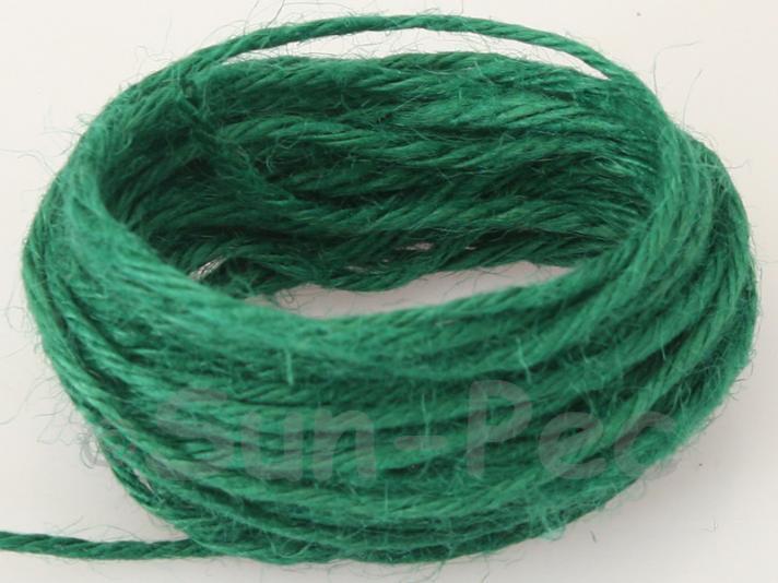 Dark Green 2mm Coarse Twisted Hemp Jute Cord 5m - 50m
