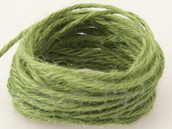Khaki Green 2mm Coarse Twisted Hemp Jute Cord 5m - 50m