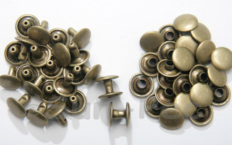 Antique Bronze 10 x 8mm Flat Round Dome Rivet & Burr Sets 10pcs - 100pcs