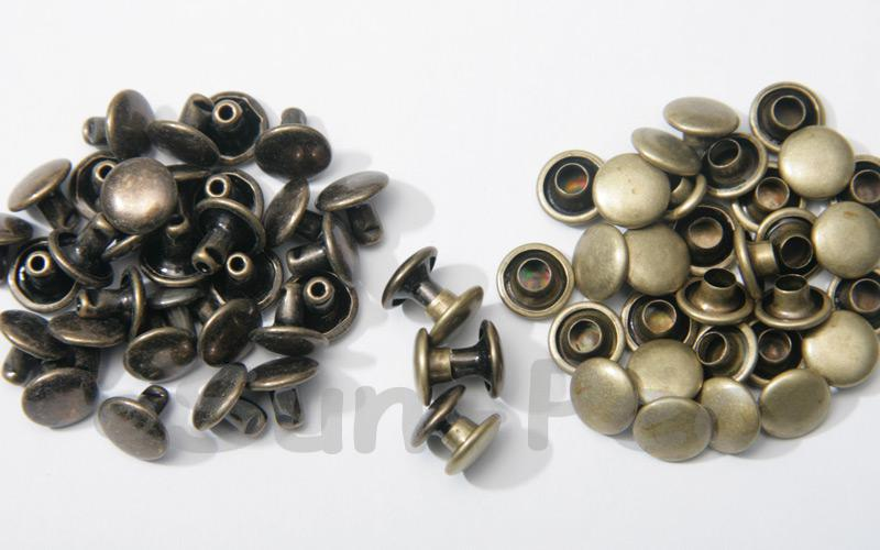 Antique Brass 8 x 6mm Flat Round Dome Rivet & Burr Sets 10pcs - 100pcs