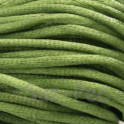 Army Green 2.5mm Satin Rattail Knotting Cord 5m - 20m