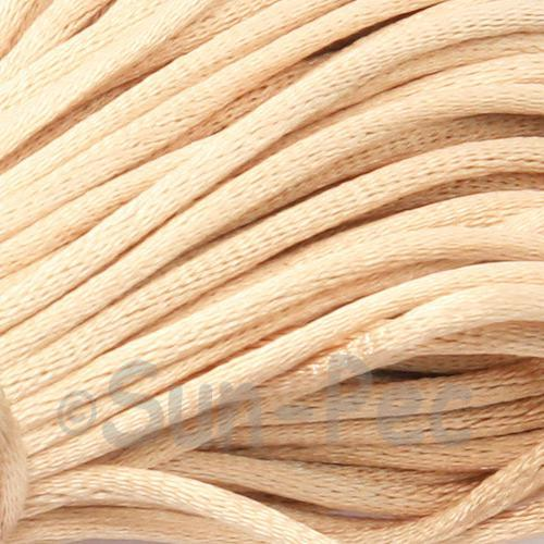Beige 2.5mm Satin Rattail Knotting Cord 5m - 10m