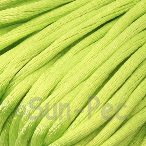 Bright Green 2.5mm Satin Rattail Knotting Cord 5m - 10m