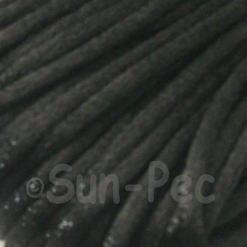 Black 2.5mm Satin Rattail Knotting Cord 5m - 10m