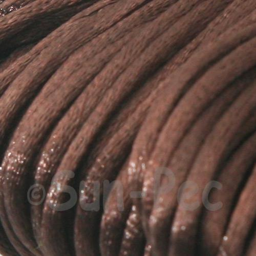 Brown 2.5mm Satin Rattail Knotting Cord 5m - 10m