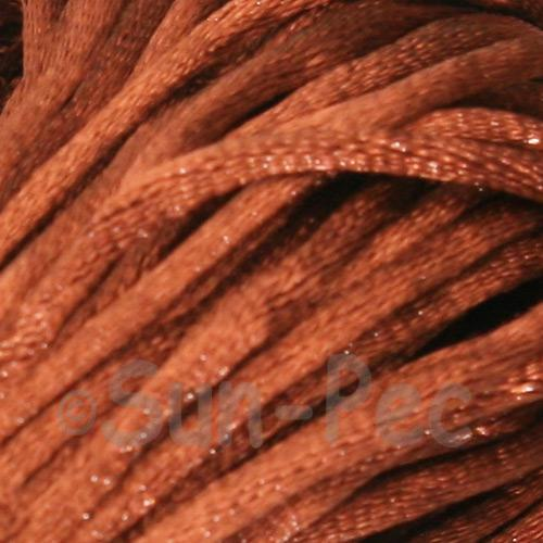Coffee 2.5mm Satin Rattail Knotting Cord 5m - 10m