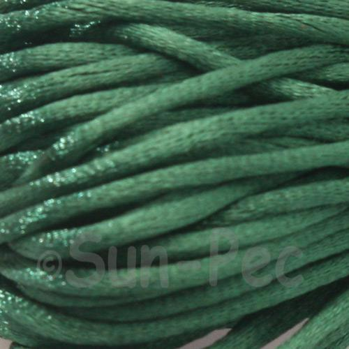 Dark Green 2.5mm Satin Rattail Knotting Cord 5m - 10m